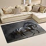 coosun schwarz Pferd Bereich Teppich Teppich rutschfeste Fußmatte Fußmatten für Wohnzimmer Schlafzimmer 152,4x 99,1cm, Textil, multi, 60 x 39 inch