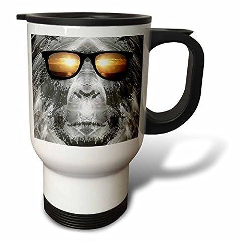 statuear Bigfoot portant Lunettes de soleil 14-Ounce Tasse de voyage en acier inoxydable