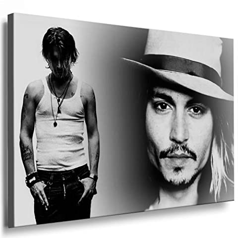 Boikal / Leinwand Bild Johnny Depp Film, Kino, Tv Stars Leinwanddruck, Kunstdruck fm29 Wandbild 60 x 40