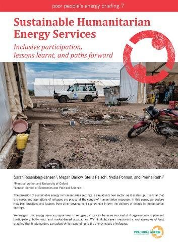 Sustainable Humanitarian Energy Services: Inclusive participation, lessons learnt and paths forward