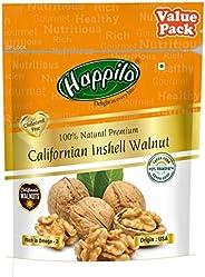 Happilo Premium 100% Natural Californian Inshell Walnut Kernels Value Pack Pouch, 500 g