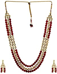 Shining Diva Jewelry Gold Plated Kundan Wedding Party Wear Necklace For Women Traditional Jewellery Set With Earrings...