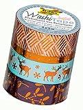 Folia 26427 - Hotfoil kupfer II Washi Tape, 4er Set