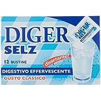Diger Selz Digestivo Effervescente, Gusto Classico Bustine da 3.5 g - 12 Bustine