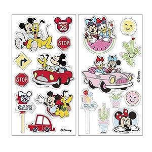 Dekora-231343 Adornos Comestibles Mickey Minnie Mouse para Cupcakes, Muffins, Bizcochos o Tartas Infantiles, color rosa (231343)