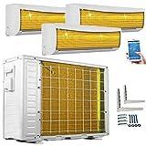 A++/A++/A++ TrioSplit WiFi/WLAN Golden-Fin 9000+9000+9000 BTU MultiSplit Klimaanlage INVERTER Klimagerät und Heizung