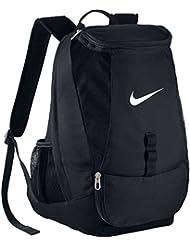 Nike Club Team Swoosh Backpack - Mochila para hombre, color negro / blanco, talla única