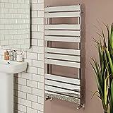 New Minimalist Bathroom Heated Towel Rail Radiator 1200 x 500 - Chrome