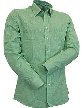 Almsach Slim Line Mini-Karo Hemd Eddi in fünf Farben