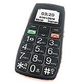 GSM Seniorenhandy Ohne vertrag, ARTFONE Großtastenhandy mit Dual-Sim Mobiltelefon mit Notruftaste & beleuchtetem Tasten Funktionstelefon (Vier Frequenzen: 850/900/1800/1900 MHz)-Orange