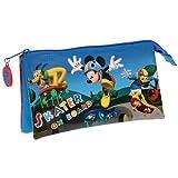 Mickey Mouse–Skater On Board, PORTATODO Triple, 22x 12x 5cm (Next Door)