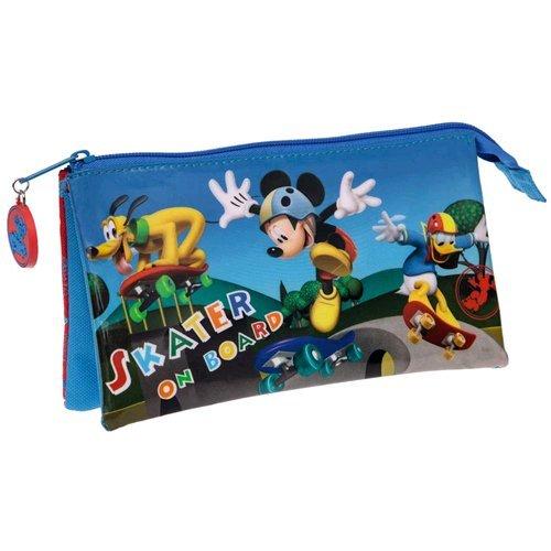 Skater on board-Mickey Mouse, portatodo tripla, 22 x 12 x 5 cm (Next Door)
