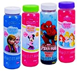 Disney Character Blow Bubbles with Wands Frozen Princesses Minnie Mouse and Marvel Spider-Man 6-ct Set