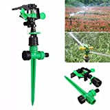 KING DO WAY Kit De 3/4'' Arroseur Rotatif À 360 Degrés Irrigation Par Arrosage Automatique Jardinage DIY Pour Pelouse Jardin Serre Rotating Sprinkler 1pcs