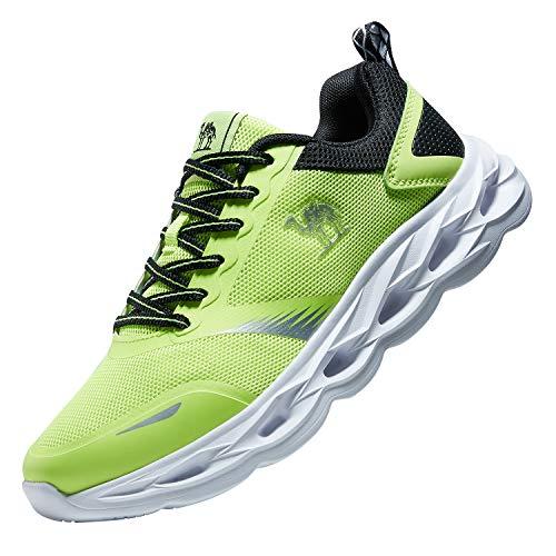 CAMEL CROWN Herren Laufschuhe Atmungsaktiv Männer Trainer Trailrunning Leichte Stoßfest Mode Sport Gym Athletisch Turnschuhe Sportschuhe Sneakers Freizeit Schnürer