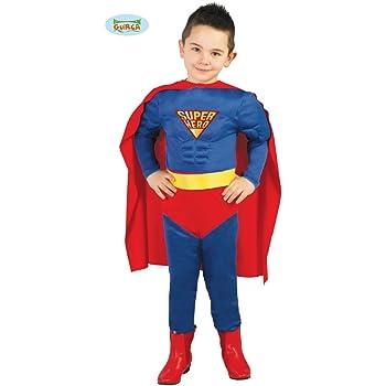 Guirca Costume vestito Superman supereroe carnevale bambino 8267_ 10-12 anni