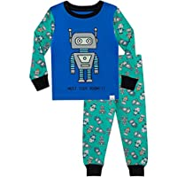 Harry Bear Boys Pyjamas Retro Robots Snuggle Fit