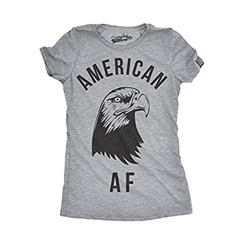 Crazy Dog TShirts - Womens American AF Funny Tshirts Fourth