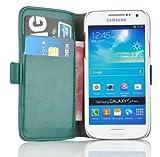 JAMMYLIZARD | Luxuriös Wallet Ledertasche Hülle für Samsung Galaxy S4 Mini, TÜRKIS