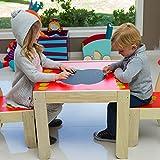Labebe - Kinder Apfel Sitzgruppe - mit 1 Kindertisch  2 Stuhl