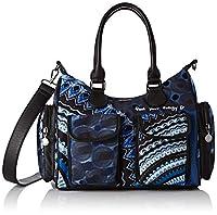 Desigual Bag Rep Blue FRIEN, Bandolera para Mujer, negro/azul de Desigual