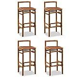 Festnight-- Barstühle Beschichteter Bambus 38 x 36 x 90 cm Braun Set 4 Stk.