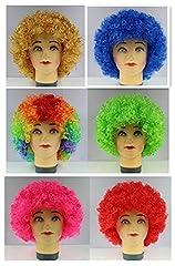 Idea Regalo - Bllomsem Cosplay esplosive Fan Capo Parrucca Festa Pazza Divertenti Costume Divertente Puntelli Pagliaccio Parrucca Blu