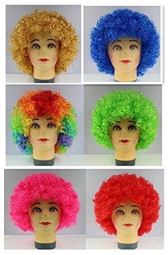 Bllomsem Cosplay esplosive fan capo parrucca festa pazza divertenti costume divertente puntelli pagliaccio parrucca blu