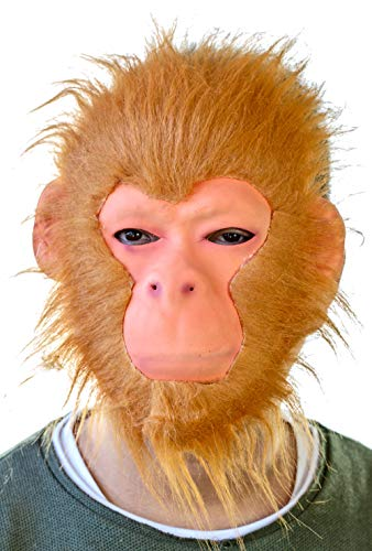 Nick and Ben Affenmaske Tiermaske | Maskierung für Kinder ab 6 Jahren und Erwachsene | Perfekt für Fasching & Karneval | orange | Einheitsgröße (King Kong Kostüm Kind)