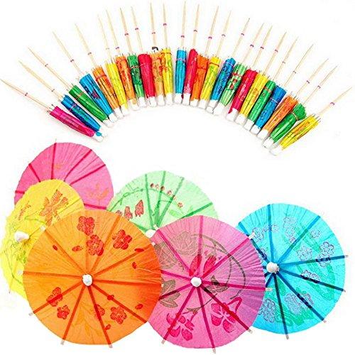 Scrox 144 cócteles de las PC pican el partido Frilled palillos de dientes, sándwich, aperitivo, muestra del paraguas Decoraciones del coctel de la fruta, cócteles Suministros del partido Placas 1 caja