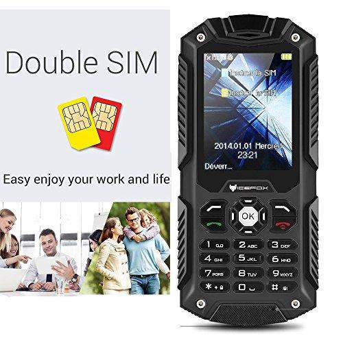 IceFox (TM) Dual Sim Outdoor Handy,2,4 Zoll Display,IP68 Wasserdicht,Stoßfest, Rugged Handy Ohne Vertrag mit Lautem Lautsprecher und Fahrradlicht - 4