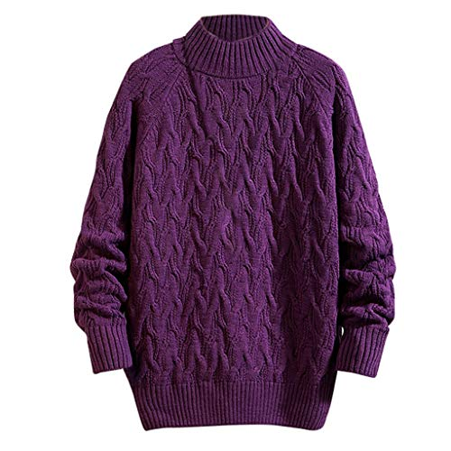 Maglione uomo puro cashmere 100% lana pullover a manica lunga con girocollo patchwork soffice e morbido, felpa in maglia invernale maglieria da uomo con collo a o