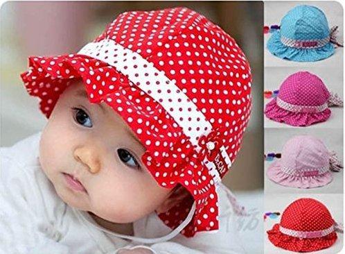 1X-Comfortable-3-24-Months-Baby-Toddler-Girls-Sun-Polka-Dot-Cotton-Hat-Cap