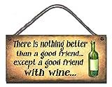 Gigglewick Gifts Compleanno occasione in legno divertente segno placca a muro non c' è niente di meglio di un buon amico