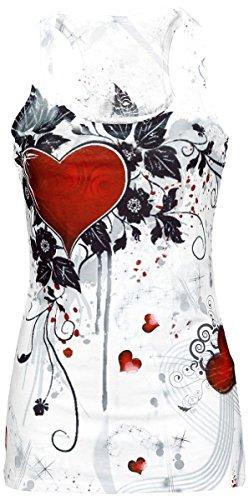 Innocent Rose Heart Top donna bianco Bianco