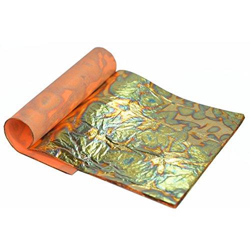 feuille-dor-panachee-vert-14-x14cm-carnet-de-25-feuilles