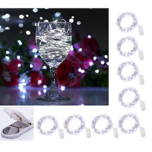Silver and white wedding table decorations amazon 8 pack 20 led micro moon starry lights on extra thin silver wire 2 x cr2032 batteries required and included 5 ft 15m for diy wedding centerpiece or junglespirit Choice Image
