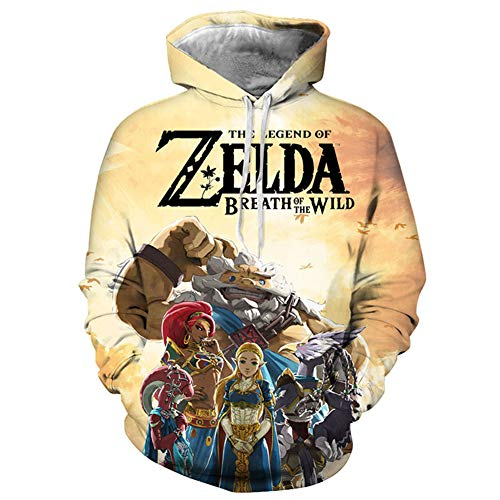 SXELODIE Unisex Fashion 3D Hoodies Printed The Legend of Zelda Hoodie Pullover Graphic Sweatshirts Hooded with Big Pockets,XL (Legend Of Zelda Link Kostüm Hoodie)