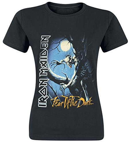 Iron Maiden Fear Of The Dark Camiseta Mujer Negro L