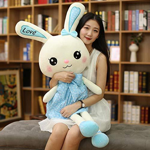 FUYUHAN Plüschtier Plüschtier benutzerdefinierte Puppe Puppe Firma Maskottchen benutzerdefinierte Kaninchen @ Blue_120cm