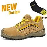 Zapatos de Seguridad Deportivos y Ligeros - Safetoe 7296 Botas de Seguridad Trabajo con Puntera de Acero para Hombre
