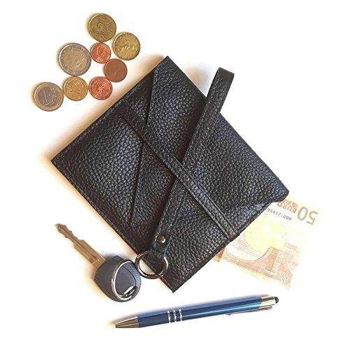 Portafoglio in pelle qualità artigianale italiana Ganza su Amazon colore nero