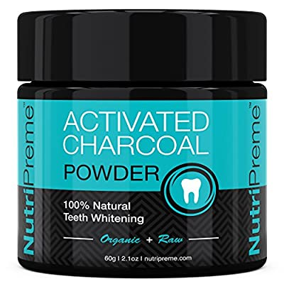 Activated Charcoal Natural Teeth Whitening Powder - ? 100% MONEY BACK GUARANTEE - Whiter Teeth or it's FREE! ? By NutriPreme