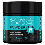 Activated Charcoal Natural Teeth Whitening Powder – ★ 100% MONEY BACK GUARANTEE – Whiter Teeth or it's FREE! ★ By NutriPreme