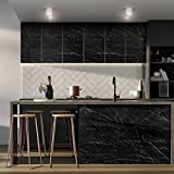 KINLO Folie mit Klebestoff Marmor verdickt Typ4 ANTI-ÖL feuchtigkeitsdicht Renovierung Möbelfolie für Küche und Schrank