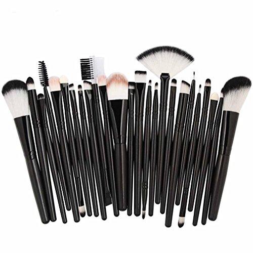 ESAILQ 25PCS Pinceau de maquillage Professionnel Teint Eyebrow Shadow Makeup Blush Kit Pinceau Ensemble brosse à maquillage Brosse à maquillage Maquillage Outils (D)