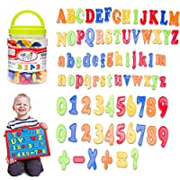 lilyshopingstore Refrigerator Fridge Magnets Toddler Toy Aphabet Magnetic Letters Numbers and Symbols Educational Toys and Teaching Aid for Preschool Kids Gift 78 PCS