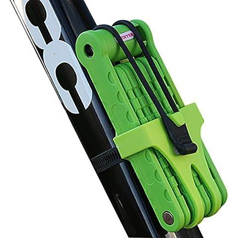 ToxTech TY3881 Piastra di bloccaggio della bicicletta pieghevole blocco di collegamento con i tasti in lega d'acciaio portatile Bike Lock antifurto Serrature & Sicurezza - Inoltre Saw