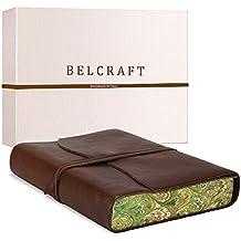 Venezia Romantica mittelgroßes Notizbuch aus Leder, Handgearbeitet in klassischem Italienischem Stil, Geschenkschachtel inklusive, Tagebuch, Lederbuch (12x17 cm) Braun