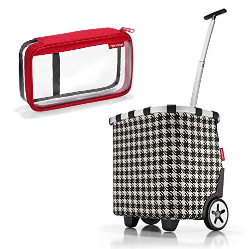 reisenthel - EXKLUSIVES ANGEBOT! carrycruiser + GRATIS case 2! Einkaufskorb Einkaufstasche Einkaufstrolley NUR SOLANGE DER VORRAT REICHT (fifties black)